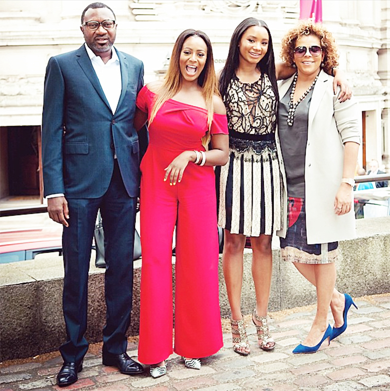 Femi Otedola Wife and Daughters