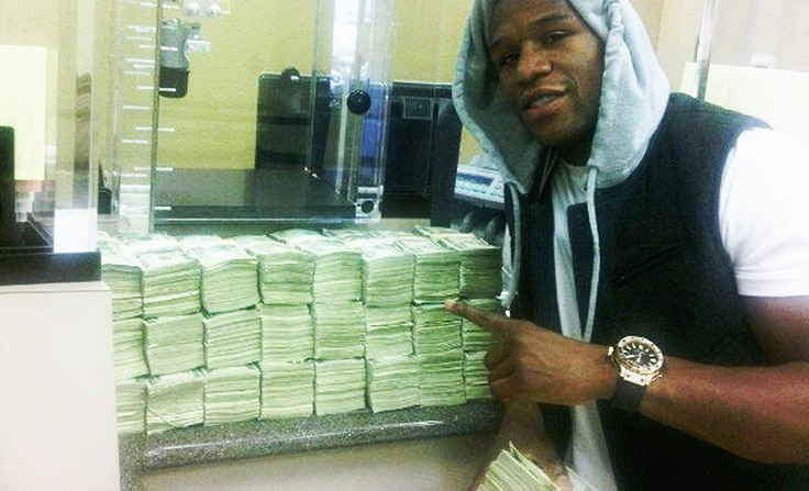 Floyd Mayweather Jr. deposited $1.2 million in cash.