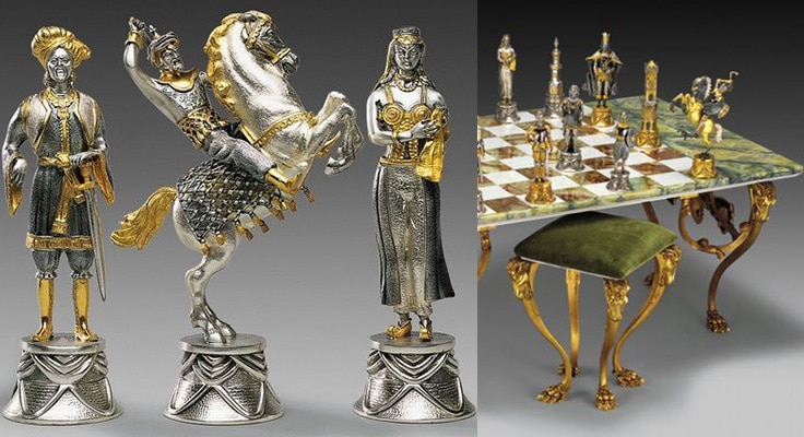 Carolingians and Moors Chess Set