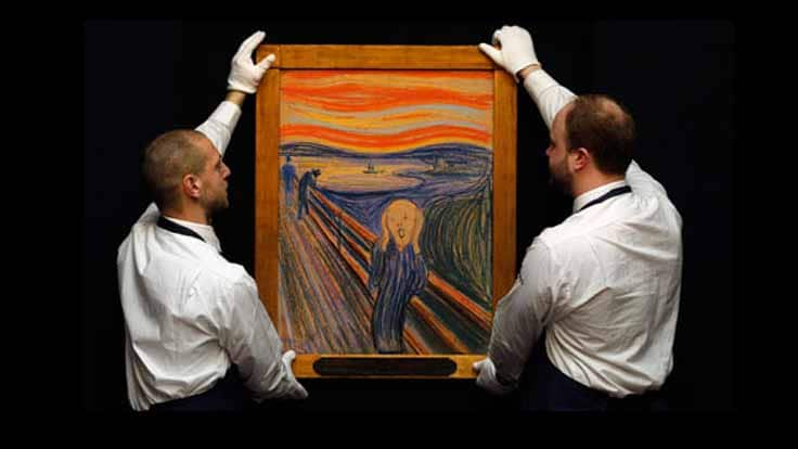 One of four of Edvard Munch's originals of The Scream.