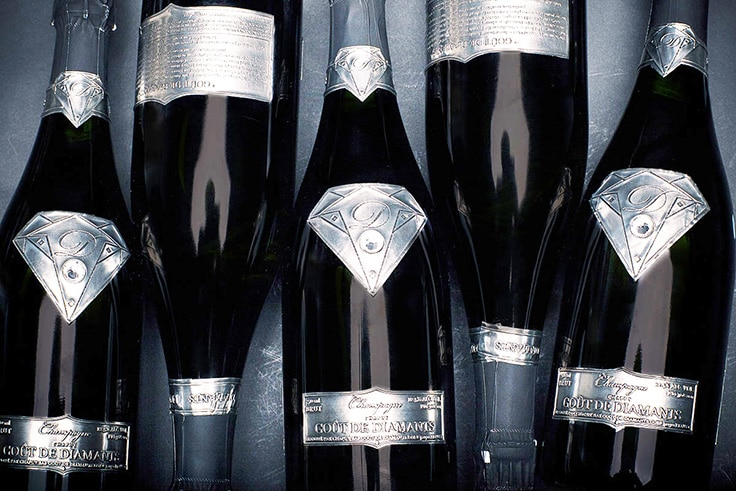Worldís most expensive champagne worth $1.8 million ships in a diamond-themed bottle