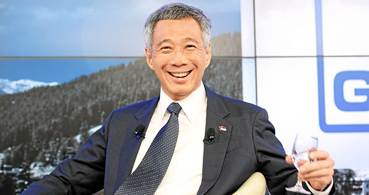 Lee Hsien-Loong smiles