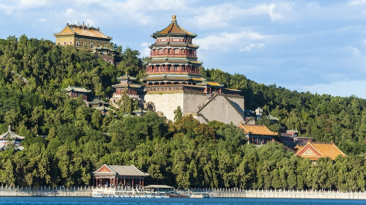 Scenery of Summer Palace under the sunshine