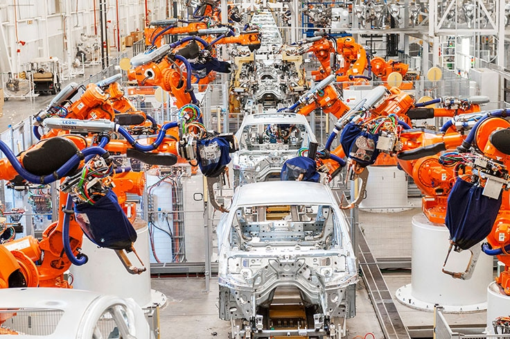 Germany-bmw-factory-spartanburg-robotic-welding-line