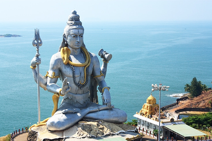 Lord Shiva Statue in Murudeshwar, Karnataka, India.