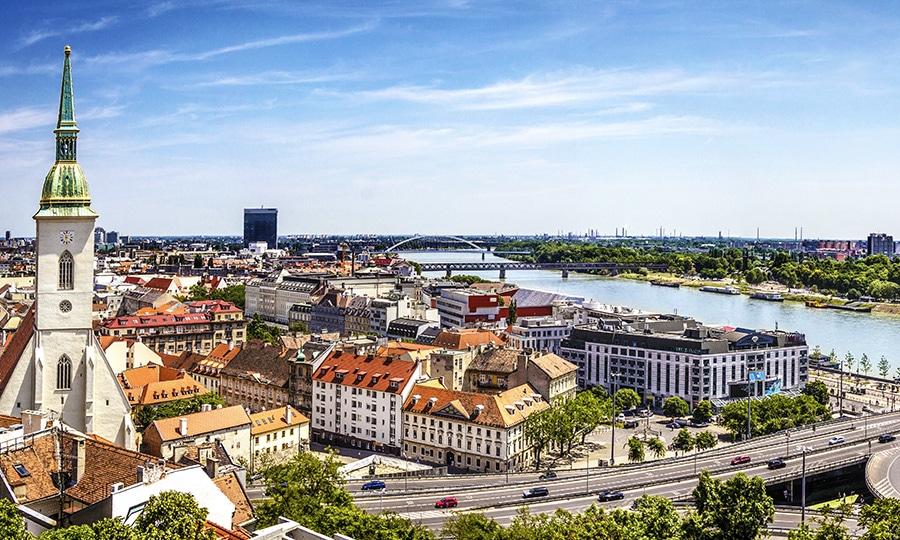 Bratislava skyline, Slovakia