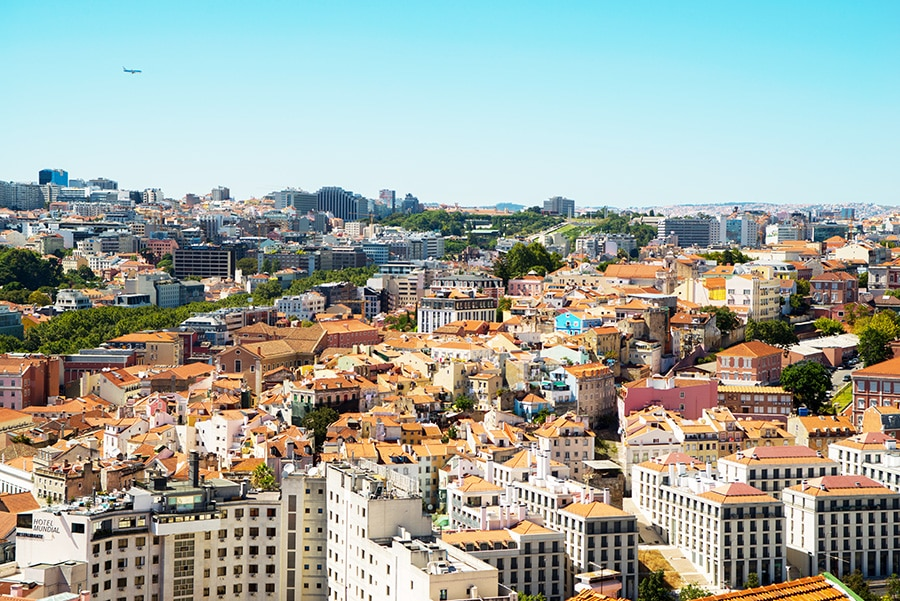 Cityscape in Lisbon, Portugal