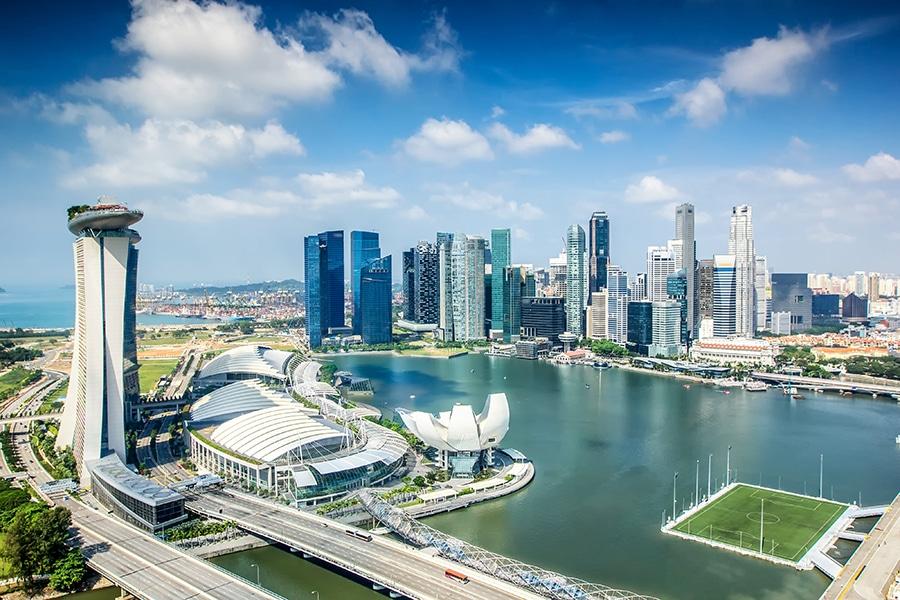 Skyline of Singapore city