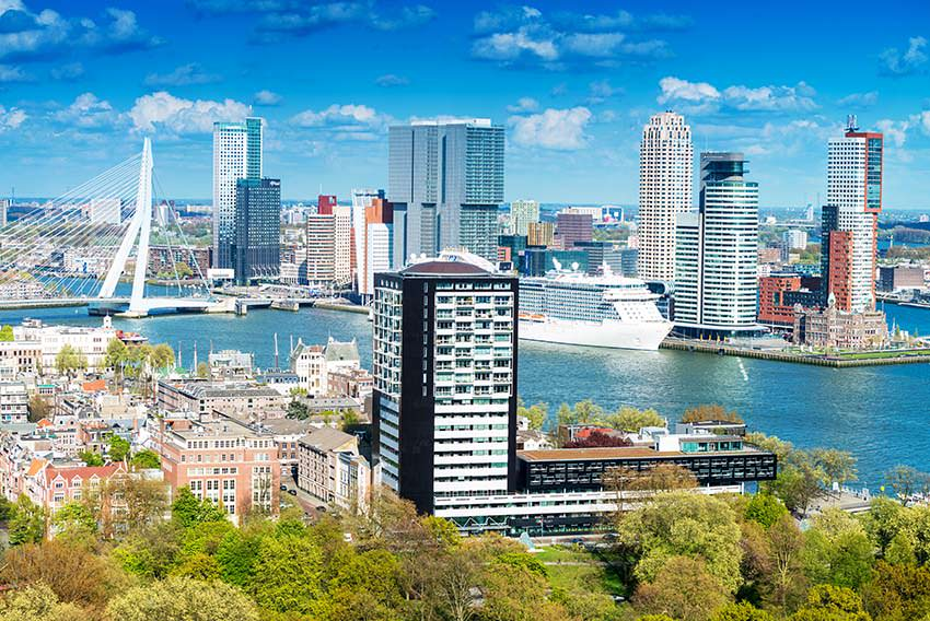 Rotterdam, Netherlands. City skyline